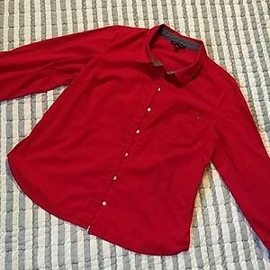 Tommy Hilfiger long sleeve button down shirt.